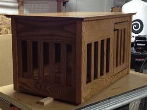 dog crate end table by cusas6 lumberjockscom With dog crates that look like end tables