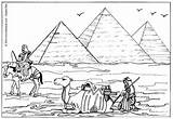 Pyramids Coloring Pages Print Egyptian Egypt Giza Hellokids sketch template