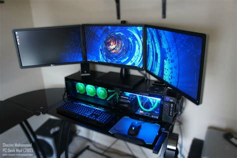 pc de bureau puissant watercooled pc desk mod modded fry 39 s l shaped desk