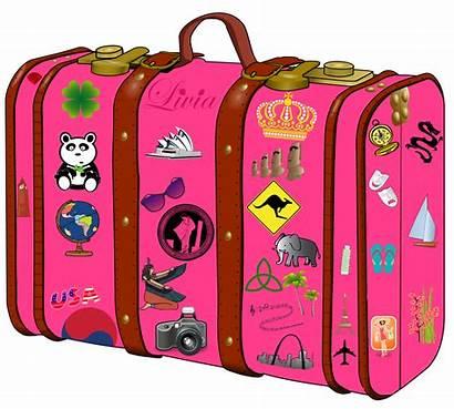 Suitcase Clipart Travel Transparent Clip Packing Passport
