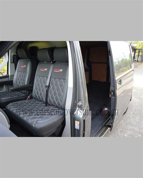 vw transporter  seat covers black pewter grey