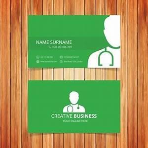 Verde biglietto da visita medica Scaricare vettori gratis