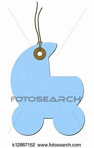 Stock Photo of Baby Shower Gift Tag k12867152 - Search ...