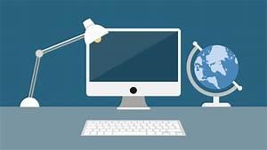 modern computer desk powerpoint template slidemodel With powerpoint templates computer theme
