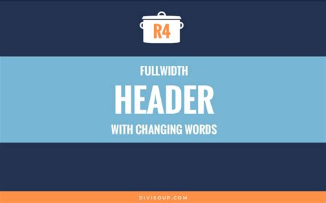 Fullwidth Header With Changing Words