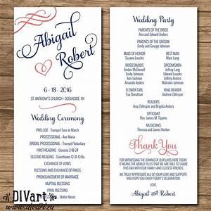 elegant wedding program ceremony program order of events With order wedding ceremony program