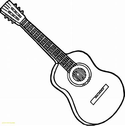 Guitar Coloring Electric Colouring Printable Playing Strings