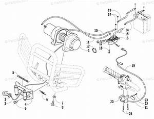 Arctic Cat Atv 2005 Oem Parts Diagram For Winch Assembly