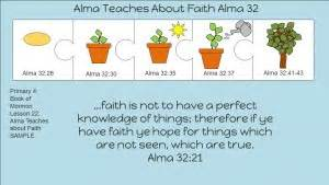 "Primary 4 Book Of Mormon Lesson 22 ""alma Teaches About Faith"" Alma 3233 Available In French"