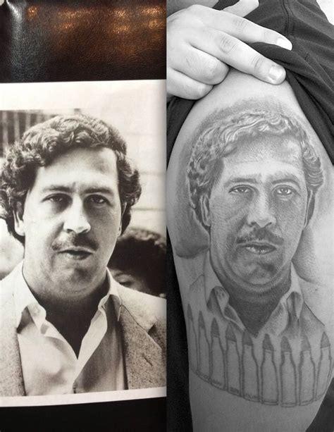 pablo escobar portrait tattoo pablo escobar black