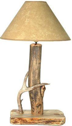 diy rustic log lamp  led power  outnumbered