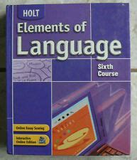 Holt Elements Of Language Books Ebay
