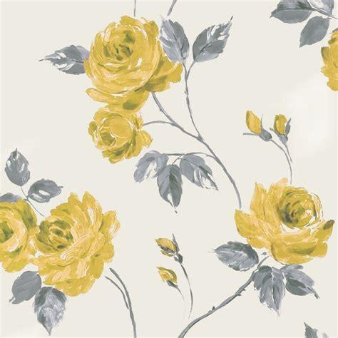 grey shabby chic wallpaper designer selection romance shabby chic floral wallpaper yellow grey 01429roy wallpaper