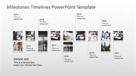 Modern Timeline Design With Picture Milestones Slidemodel