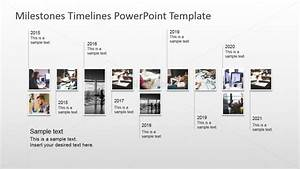 modern timeline design with picture milestones slidemodel With milestone chart templates powerpoint