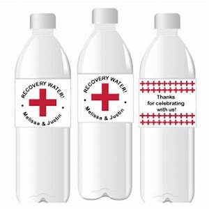 Hangover personalized water bottle label 12 pcs for Hangover water bottle labels