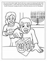 Hanukkah Coloring Printable Personalized Dreidel Menorah Hannukah Dreidle Getcolorings Preschool Jewish Happy Gelt Decorations sketch template