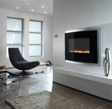 modern wall mounted fireplace interior design ideas