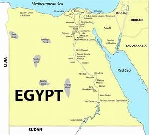 Mediterranean Sea, Libyan Desert, Arabian Deseart, Nile R...
