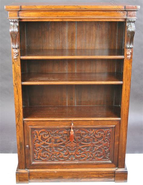 Bookcase With Cupboard Base by William 1v Rosewood Bookcase With Cupboard Base Antiques