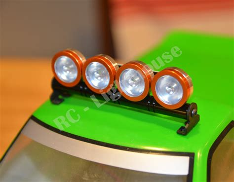 rc led light bar in orange with clear lenses rc lighthouse