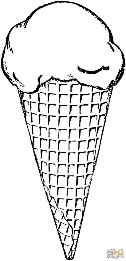 Colorare Ice Cream Coloring Disegni Gelato Printable