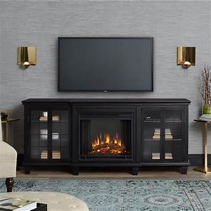 Marlowe, Electric, Entertainment, Fireplace, In, Black, By, Real, Flame, -, Walmart, Com