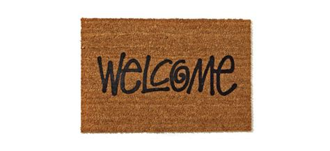 stussy doormat stussy quot welcome quot door mat green label