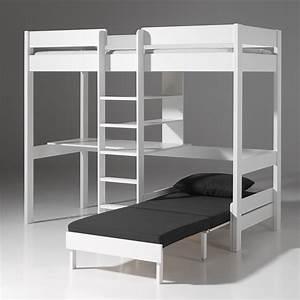Lit Mezzanine Bureau Enfant : lit mezzanine personne ~ Teatrodelosmanantiales.com Idées de Décoration