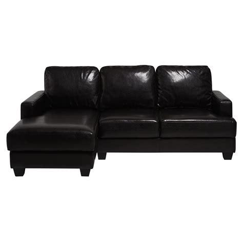 canape imitation cuir canapé d 39 angle gauche 3 4 places imitation cuir marron