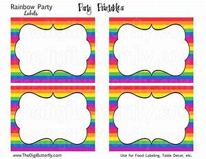 25 best ideas about rainbow party invitations on for Food label template for party