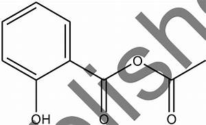 Chemical Structure Of Acetyl Salicylic Acid  Aspirin