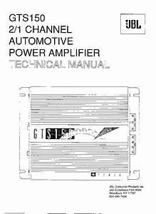 Jbl Power Amplifier Gts150 Service Manual Download
