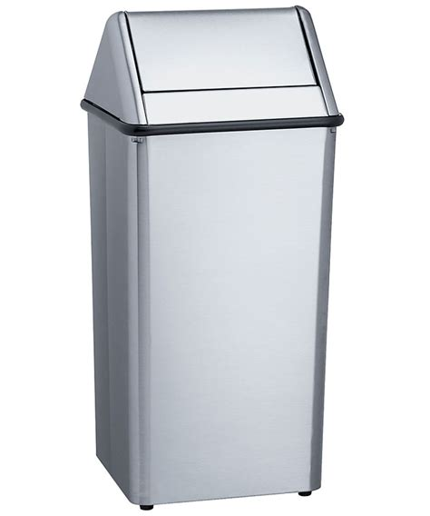 standard 36 gallon free standing waste receptacle unoclean
