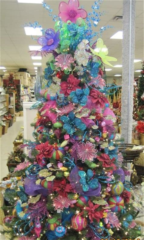 brightly colored decorations baton rouge christmas trees