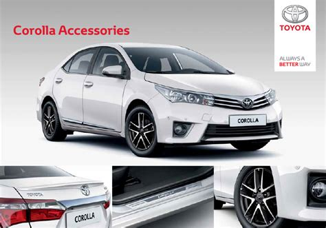 Toyota Corolla Accessories by Toyota Corolla Styling Accessories