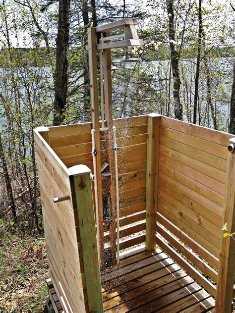 these outdoor showers will convince you to install one at home cottage life