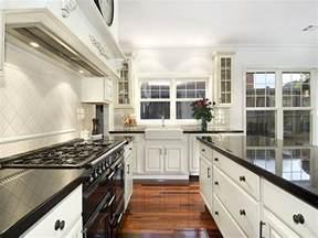 galley kitchen ideas classic galley kitchen design using floorboards kitchen photo 315739