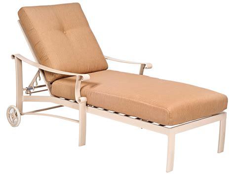 woodard bungalow cushion aluminum adjustable chaise lounge