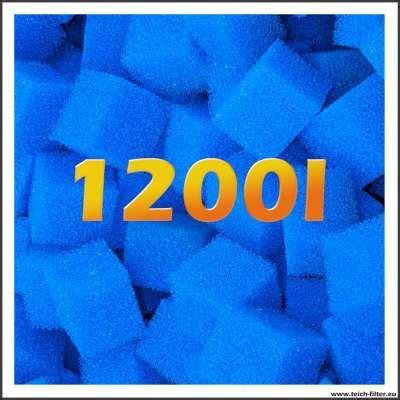 teich filtermaterial gartenteich filterschw 228 mme grob 1200 liter f 252 r teich teichfilter