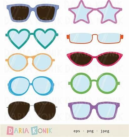 Clipart Glasses Clip Heart Shaped Sunglasses Eye