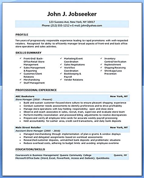Resume For Assistant Manager Position by Retail Manager Resume Is Made For Those Professional