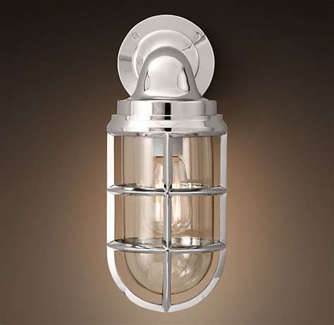 starboard sconce polished nickel sconces restoration