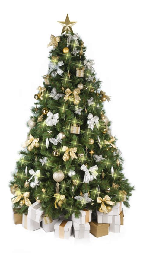 christmas tree  gold silver decorations
