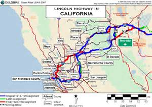 Lincoln Highway California Map