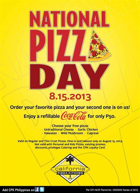 gastronomy  joy national pizza day announced  cpks