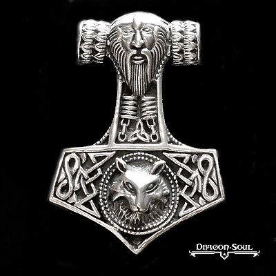 solid sterling silver viking thor 39 s hammer mjolnir pendant
