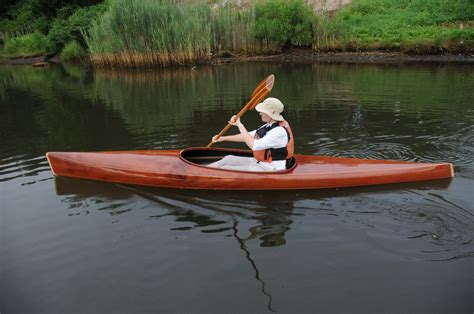 wooden high robin in microbootlegger guillemot kayaks small