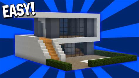 minecraft easy modern house tutorial  easy pcpe