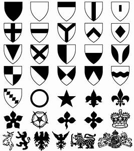 Heraldic Shield Coat of Arms Vector & Photoshop Shapes ...